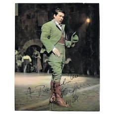 Giuseppe diStefano Autograph on Tinted Scala Milano Photo. CoA.