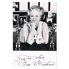 Olivia de Havilland Autograph. Signed Photo CoA