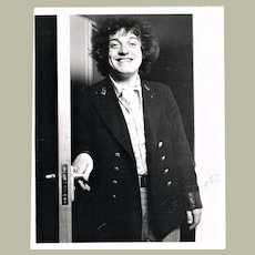Joe Cocker Very early Autograph on 8 x 10 Photo CoA