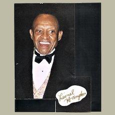 Lionel Hampton Autograph CoA