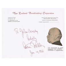 Arthur Fiedler Autograph signed Letter from 1966