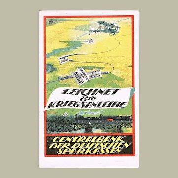 Austrian War Bonds Advertising Postcard Artist Signed