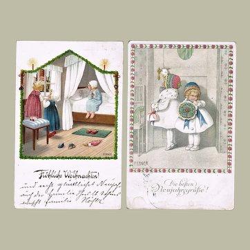 Two Pauli Ebner Postcards 1920s