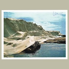 Christo signed Wrapped Coast Project Artist Postcard CoA