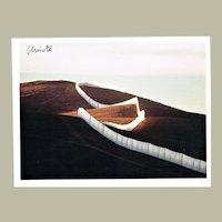 Christo signed Running Fence Project Artist Postcard CoA