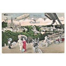 Warren Massachusetts in the Future Postcard 1911
