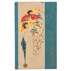 Raphael Kirchner Postcard 3 Ladies in Kimono Mikado Series 1901