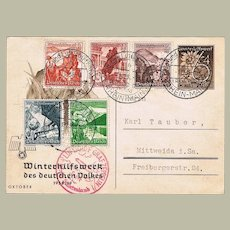 Zeppelin Mail Sudetenland WWII 1938 Elections