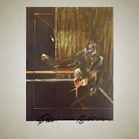 Francis Bacon Autograph. Hand signed Artist Postcard. CoA