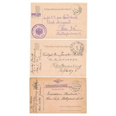 Three Imperial Austria Postcards SMS Maria Theresia and Railway