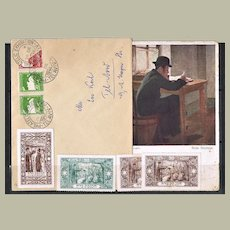 Small Judaica Lot with Special Letter, Postcard, Special Stamps