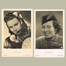 Lida Baarova Two Portrait Photos by Ross