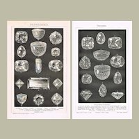 Diamonds Two Decorative Lithograph from 1893 and 1900