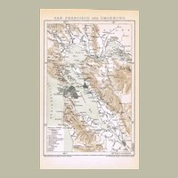 San Francisco and Vicinity Antique Map from 1895