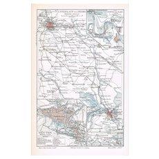 Old China Map from 1902: Pei-Ho and Ta-Ku at Boxer Rebellion