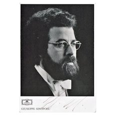 Conductor Giuseppe Sinopoli Autograph. Hand Signed Portrait Photo. CoA