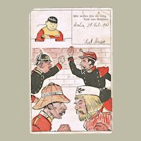 China Boxer Rebellion Mocking Postcard from 1900
