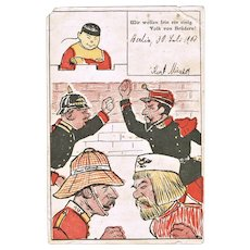 China Boxer Rebellion Mocking Postcard from 1900