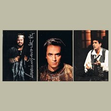 The 3 Tenors 3 Photos of Pavarotti, Domingo and Carreras Signed COA.
