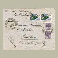 Condor Zeppelin, Lufthansa: Censor-mail to Brazil