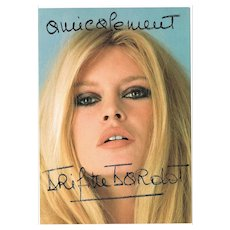 Brigitte Bardot Lot with Three Autographs CoA