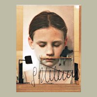 Gottfried Helnwein Autograph on Photo of Huge Painting. CoA