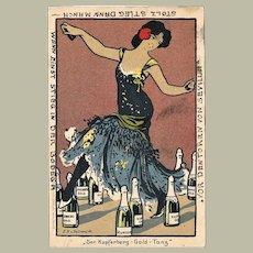 Old Sparkling Wine Litho Postcard Kupferberg 1905