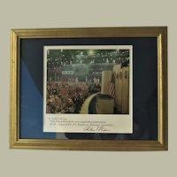 Richard Nixon Autograph from 1972 Framed 18 x 14 CoA