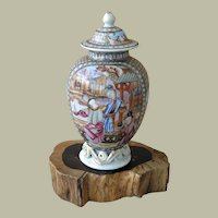 China Qianlong Mandarin Porcelain Tea Caddy 18. Ct Rare