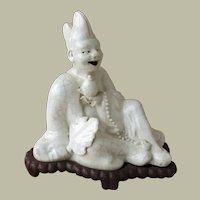 Antique Japanese Figurine Crackle Ware Meiji Period