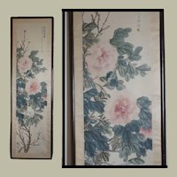 Chinese painting with Peonies from 1922 by Wu Yuanjuan