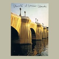Christo And Jeanne Claude signed The Pont Neuf Wrapped II Postcard CoA