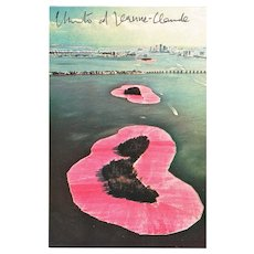 Christo signed Surrounded Islands Postcard with CoA
