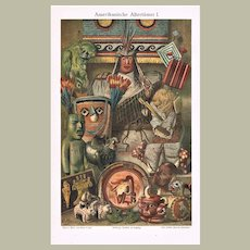 American Antiquities Lithograph from 1900