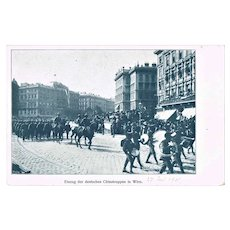 Boxer Uprise in China German China Troops Parade in Austria 1901