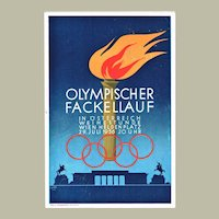 Olympic Torch Run Postcard 1936 Austria Wien Heldenplatz