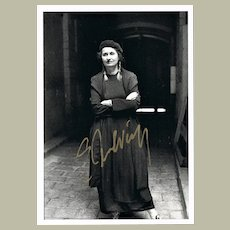Nobel Price Winner Author Elfriede Jelinek Autograph. CoA