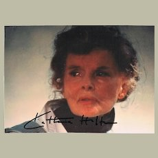 Katherine Hepburn Autograph. Signed Photo, CoA