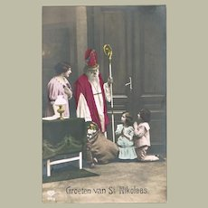 Greetings from Saint Nicholas Postcard with Doll