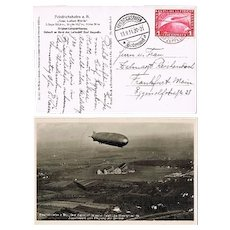 Zeppelin Mail from 1931 with 1 Reichsmark Stamp