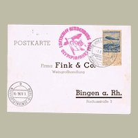 Zeppelin Postcard Olympics 1936