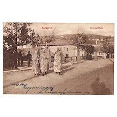 Muslim Ladies in Sarajevo Vintage Postcard from 1909