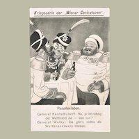 Mocking Postcard WWI Wiener Caricaturen Pan-Slavists
