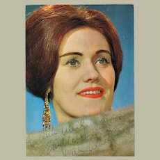 Dame Joan Sutherland Autograph on Large Trading Card COA