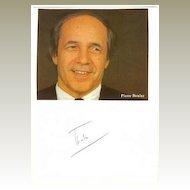 Pierre Boulez Autograph. Famous Conductor Signature. CoA