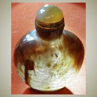 Agate Snuff Bottle with Translucent Body
