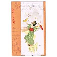 Raphael Kirchner Postcard Geisha Series 1900