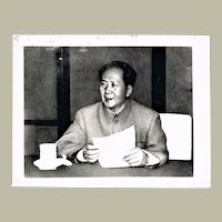 Authentic China Cultural Revolution Photo Mao Zedong Portrait