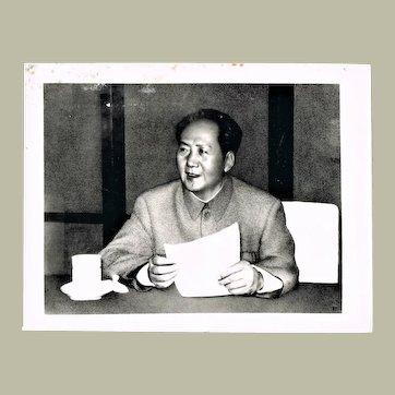 Authentic China Cultural Revolution Photo Mao Zedong Portrait