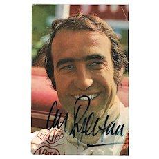 Clay Regazzoni Autograph o Early Postcard. CoA